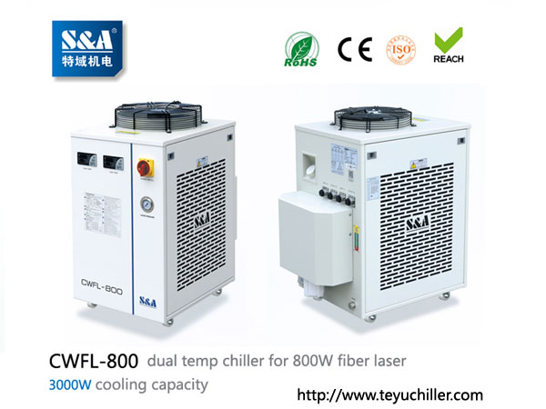 S&A laser chiller CWFL-800 for cooling 800W fiber laser cutting machine